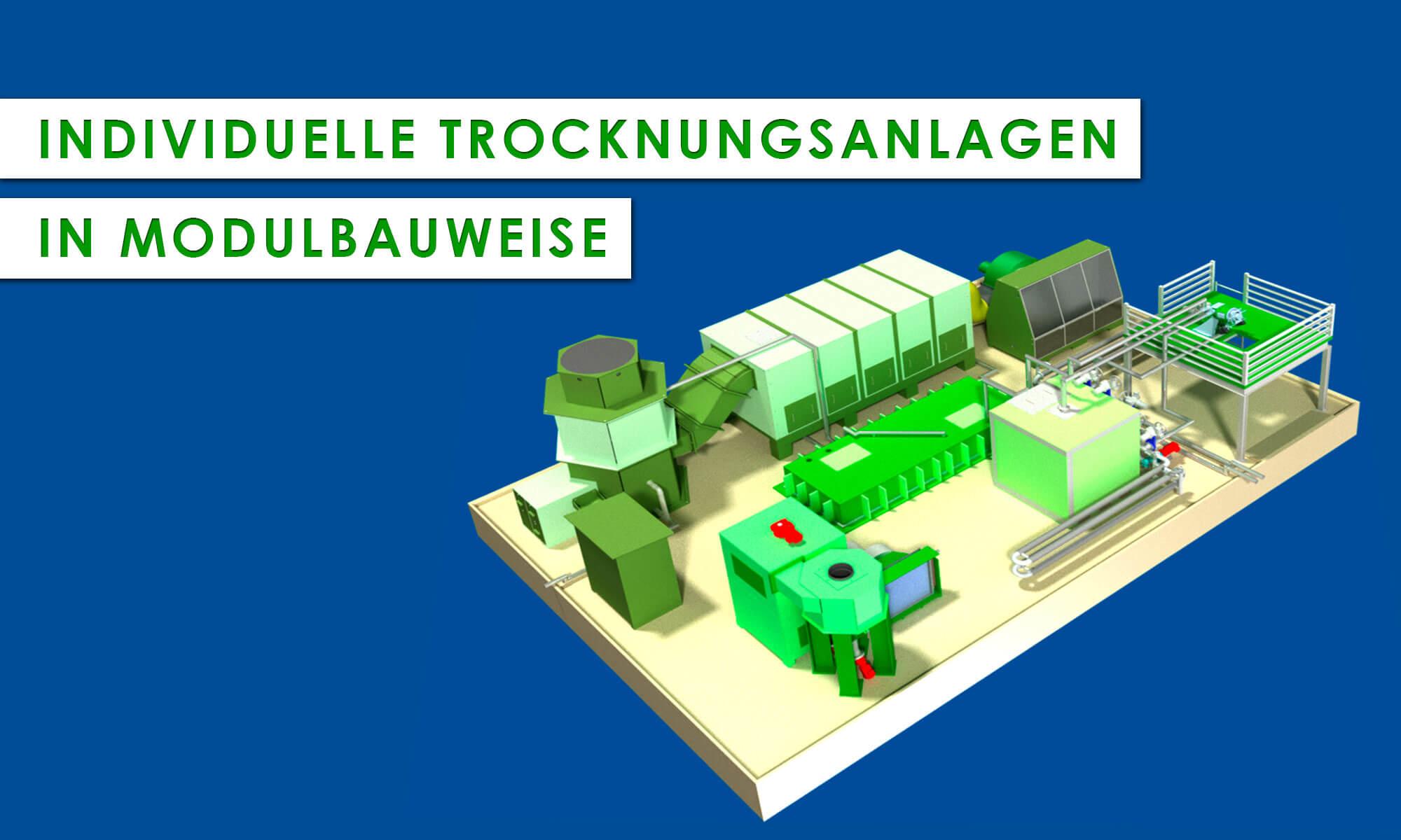 Anlagenübersicht EVA-Trockner mit individuellen Modulaufbau