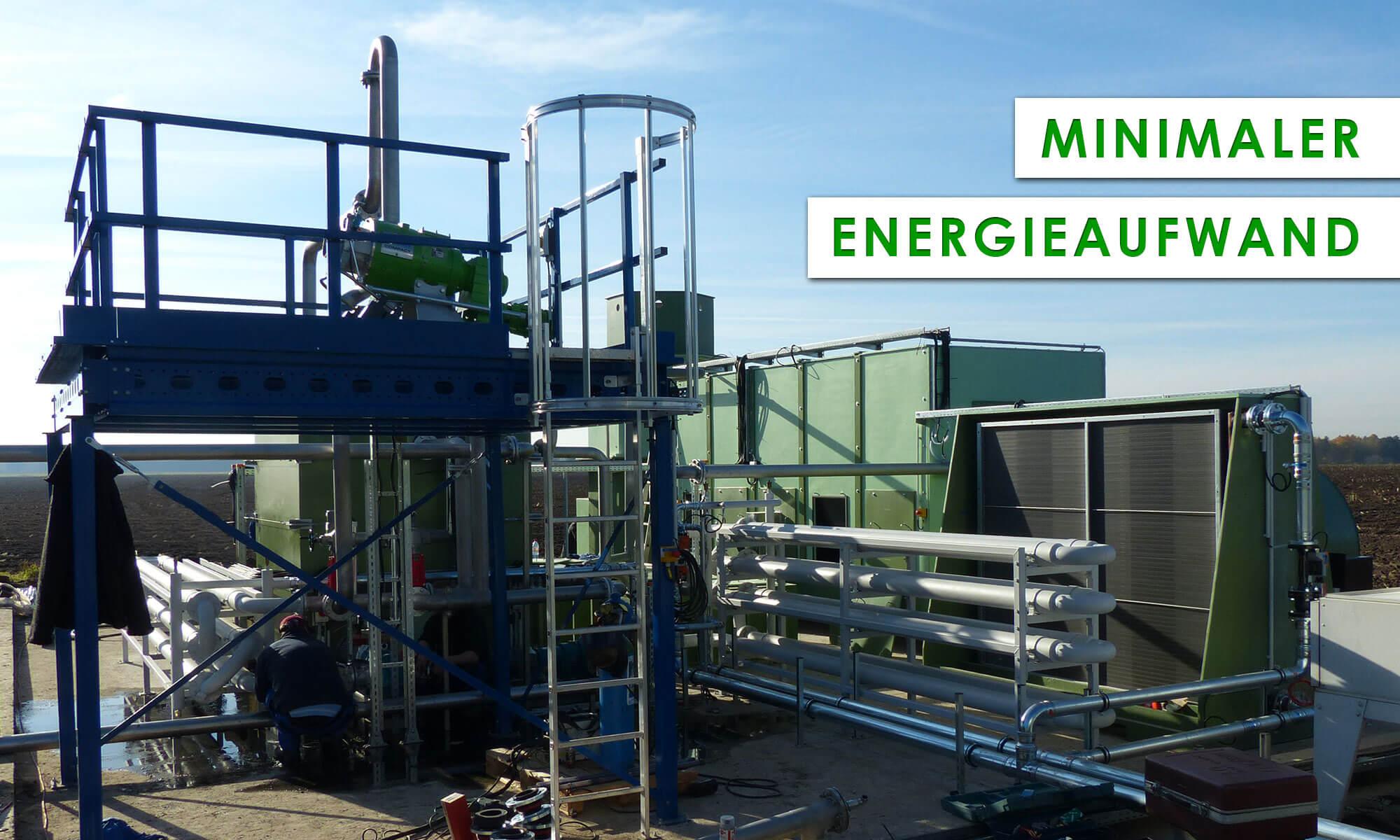 Mineralit EVA-Trockner arbeiten mit minimalstem Energieaufwand